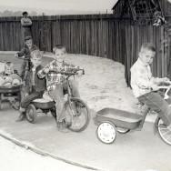 Riding bikes 1958
