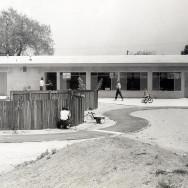 Backyard bike path 1958
