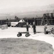 Backyard with boat 1958