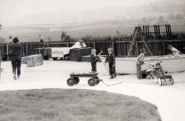 Backyard with boat 1958